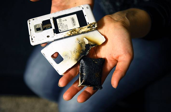 smartphone explosions in the US